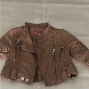 Leather toddler girl jacket